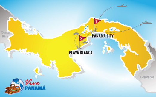 Panama Urlaub | Karte Playa Blanca