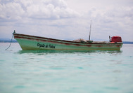 Boot im Pazifik vor Pedasí