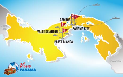 Panama Urlaub | Karte Entdeckungsreise mit Familie