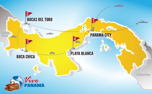 Panama Rundreise | Karte Rundreise Deluxe 2017