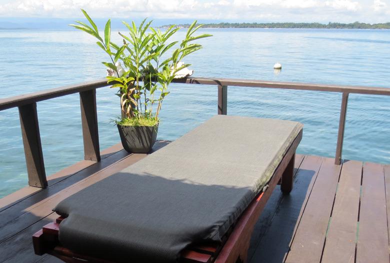 Panama Rundreise | Blick von der Terrasse, Bocas del Toro
