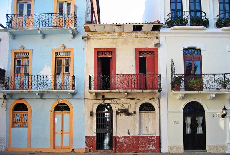 Panama Rundreise | Fassaden in der Altstadt, Panama City