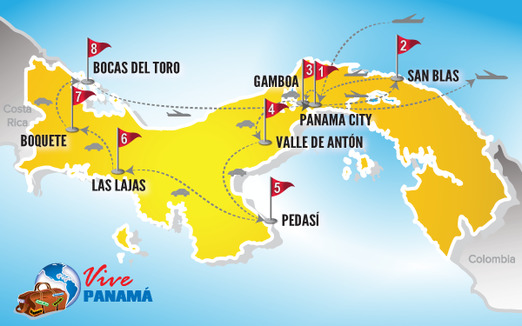 Panama Rundreise | Karte Rundreise Sternstunden