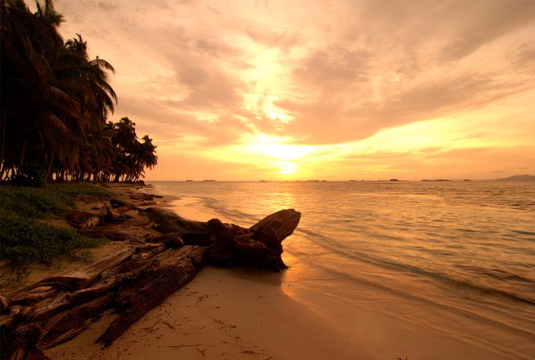 Panama Reisen | Sonnenuntergang in San Blas