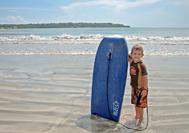 Surfanfänger am Strand