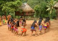 Tanz der Frauen der Embera Ethnie